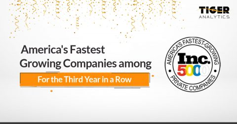 Tiger Analytics Named On Inc.5000's 2020 List Of Fastest Growing Companies in America